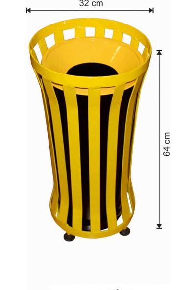 Avrupa Tedarik Dış Alan Çöp Kovası Yuvarlak Sarı Renkli