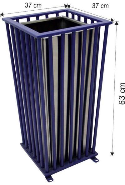 Avrupa Tedarik Dış Alan Dekoratif Çöp Kovası 63 Litre