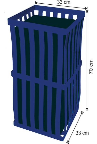 Avrupa Tedarik Dekoratif Dış Alan Çöp Kovası 54 Litre