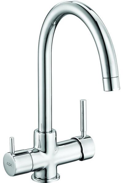 Eca Dual Flow Su Arıtma Çıkışlı Evye Eviye Mutfak Bataryası