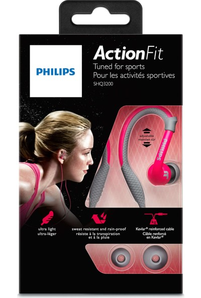Philips Shq3200Pk Actionfit Kulakiçi Spor Kulaklığı Pembe