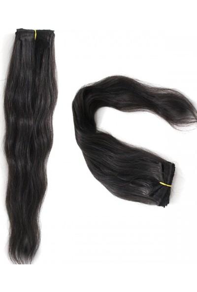 Idl Gerçek Doğal 8 Parça Çıt Çıt Saç Doğal Siyah 150 Gr.