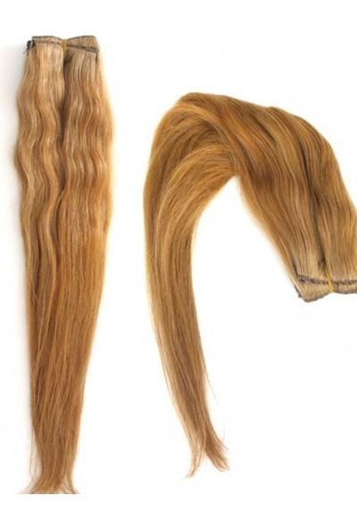 Idl Gerçek Doğal 8 Parça Çıt Çıt Saç Sarı Karamel 150 Gr.