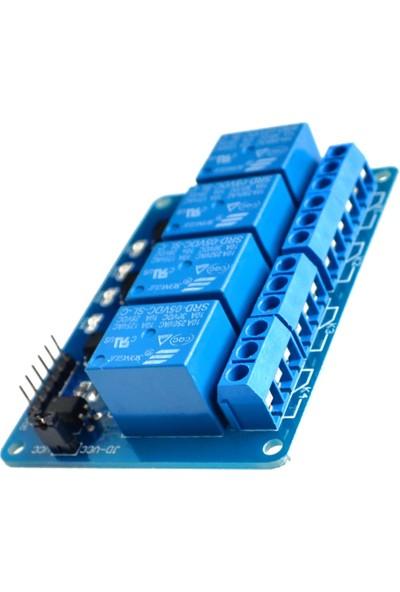 Robotekno Dört Kanal Röle Kartı 5v 4'lü Röle Modülü 4 Kanal Röle Arduino