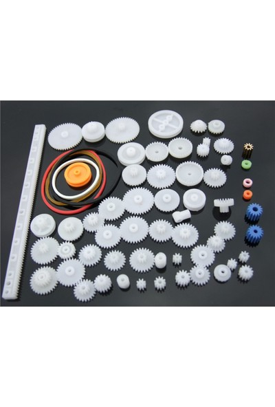 Robotekno Plastik Dişli Seti 60 Parça RC Dişli Çark Arduino