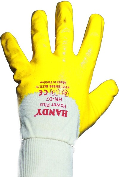 Handy Handy Sarı Nitril Eldiven - İş Eldiveni