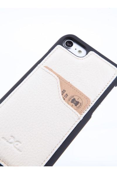 DC Apple iPhone 7 Krispy Deri Arka Kapak Kartlıklı