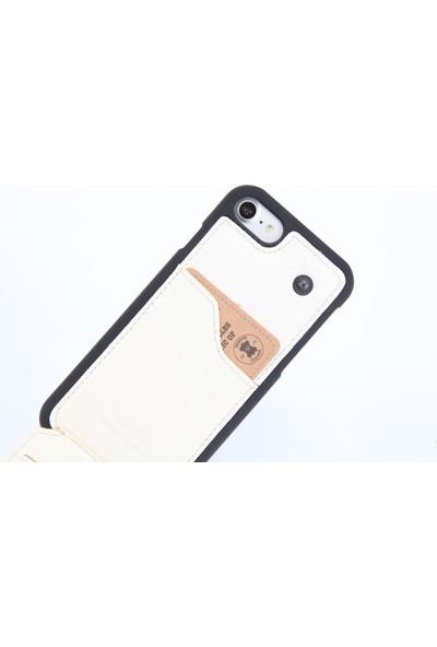 DC Apple iPhone 7 Krispy Deri Cüzdan Arka Kapak Kartlıklı