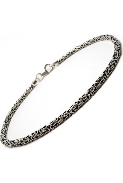 Osmanlı Gümüş Kral Zincir Bileklik 9Gr
