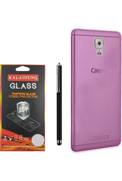 Gpack Casper Via A1 Plus Kılıf 02mm Silikon Case +Kalem +Cam