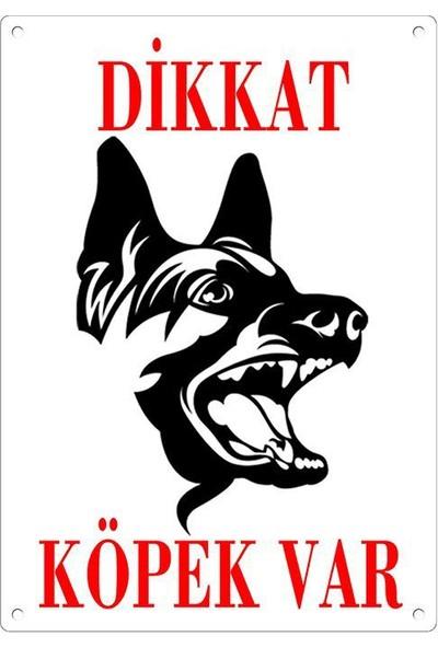 Dikkat Köpek Var Uyari Levhasi (Alman Kurdu)