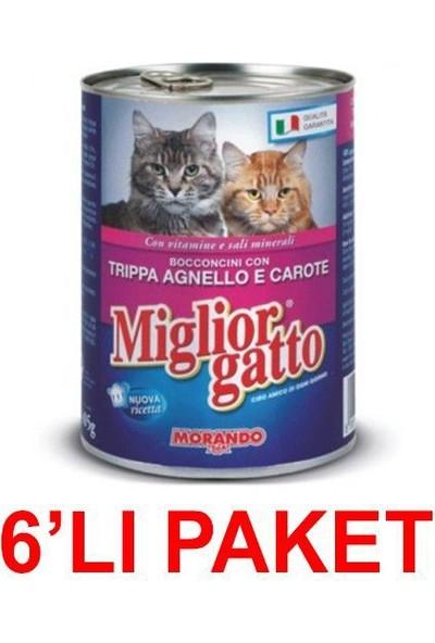 Miglior Gatto Kuzu Işkembe Ve Havuçlu Kedi Konservesi 405 Gr. (6'Li Paket)