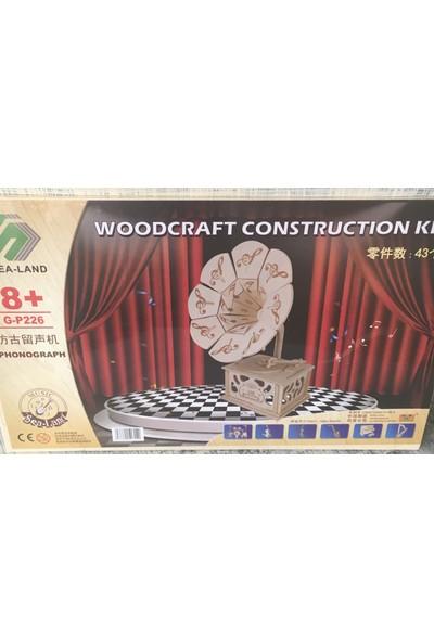 Woodcraft Ahşap Oyuncak Eğitici Puzzle -Maket- Yapılandırma Oyuncak