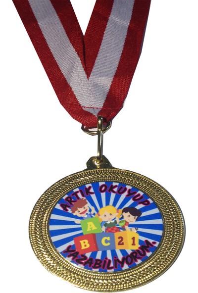 Beyazyıldızlar Madalya 10 Adet (Artık Okuyup Yazabiliyorum _Mavi)