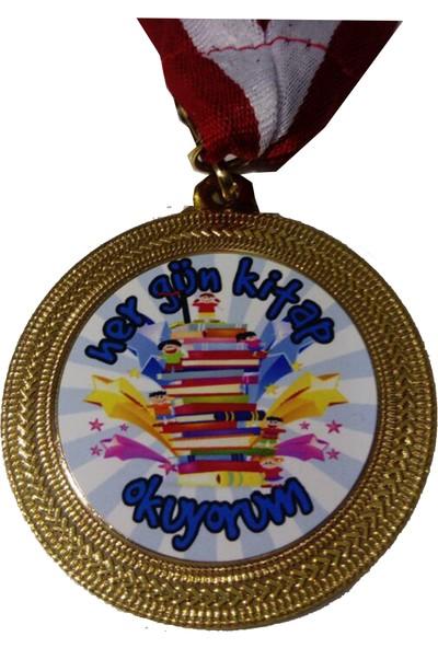 Beyazyıldızlar Madalya 10 Adet (Hergün Kitap Okuyorum)