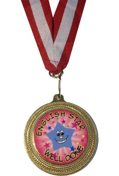 Beyazyıldızlar Madalya 10 Adet (English Star Well Done)