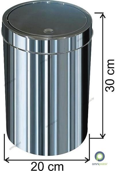Arı Metal Dokunmatik Kapaklı 12 Lt Paslanmaz Çöp Kovası