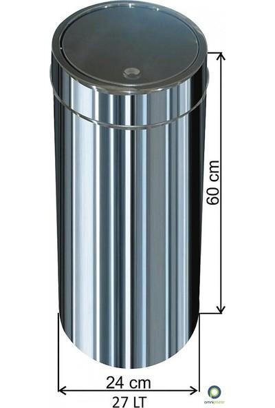 Arı Metal Dokunmatik Kapaklı 27 Lt Paslanmaz Çöp Kovası