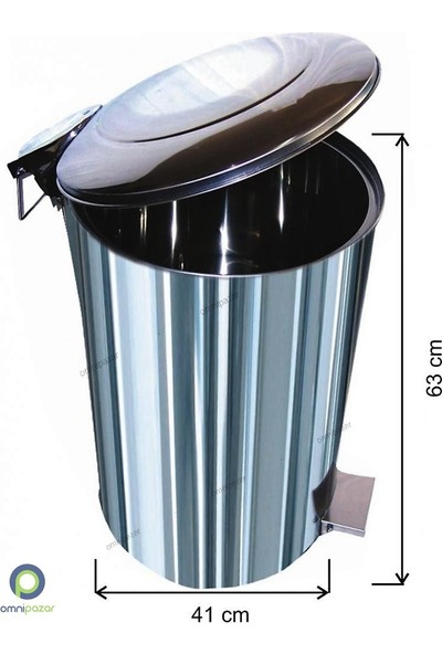 Arı Metal Endüstriyel Pedallı Çöp Kovası 70 Lt 430 Kalite