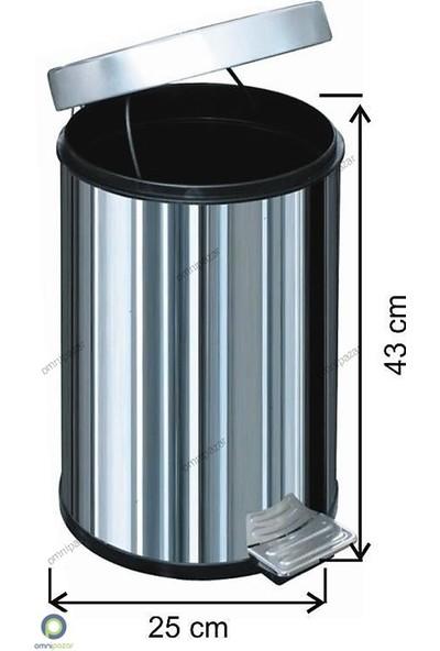 Arı Metal Pedallı Çöp Kovası 16 Lt 430 Kalite