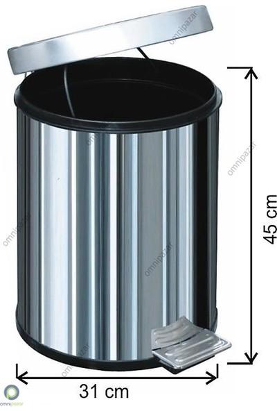 Arı Metal Pedallı Çöp Kovası 30 Lt 430 Kalite