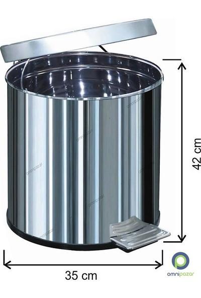 Arı Metal Pedallı Çöp Kovası 40 Lt Su Sızdırmaz 430 Kalite