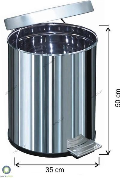 Arı Metal Pedallı Çöp Kovası 50 Lt Su Sızdırmaz 430 Kalite