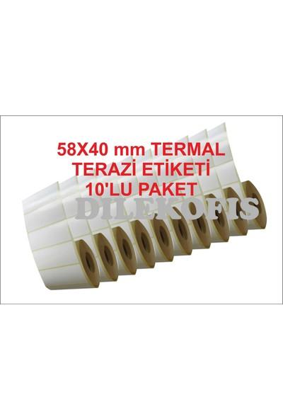 Dilekofis 40X58 Termal Terazi Etiketi 10 Ad. / Paket