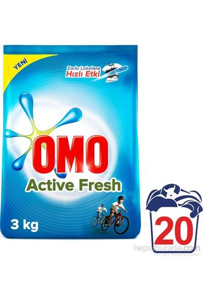 Omo Toz Çamaşır Deterjanı Actıve Fresh 3 Kg