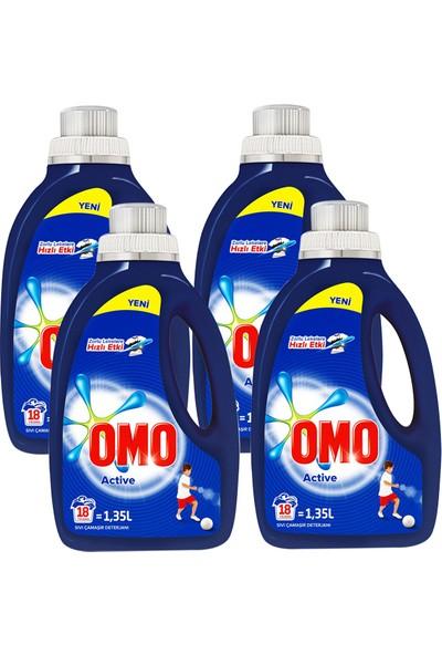 Omo Sıvı Çamaşır Deterjanı Active 1350 ml x 4 Adet