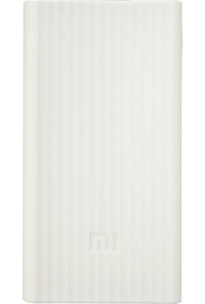 Case 4U Xiaomi 20000 mAh Taşınabilir Şarj Cihazı Silikon Kılıf Beyaz