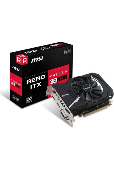 MSI AMD Radeon RX 550 AERO ITX 2G OC 2GB 128 bit GDDR5 DX(12) PCI-E 3.0 Ekran Kartı (RX 550 AERO ITX 2G OC)