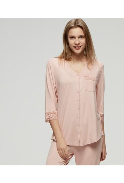 CatherineS Maternity Lohusa Yarım Kol Pijama Takımı