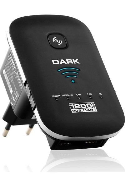 Dark RangeMAX AC1200 1200Mbit 2x3dBi Dahili Antenli 802.11ac/n WiFi Kablosuz Access Point / Router / Repeater (DK-NT-WRAC1200)