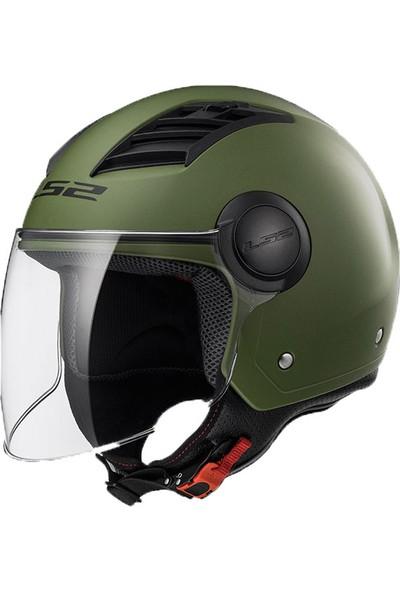 Ls2 Of562 Mat Yeşil Kask Xl
