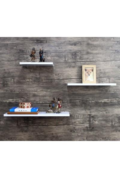 Hepsi Home Zoom 3'lü Duvar Rafı Beyaz