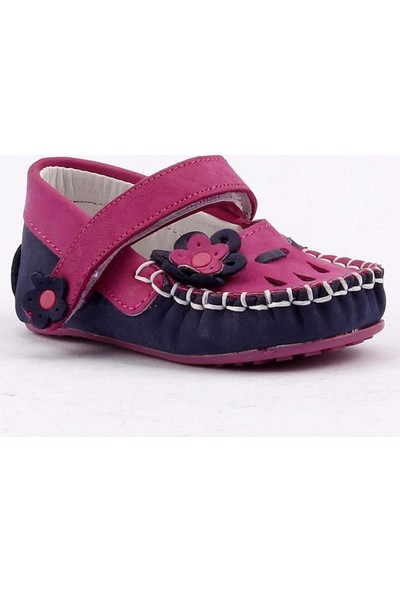 Teo Bebe 4700 % 100 Deri Ortopedik Cırtlı Kız Çocuk Ayakkabı