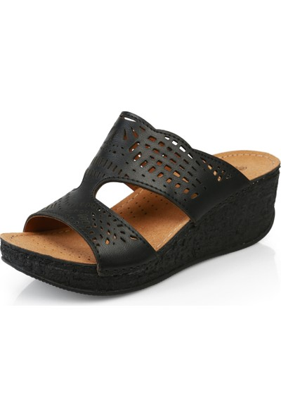 Muya 26223 Siyah Terlık Ayakkabı
