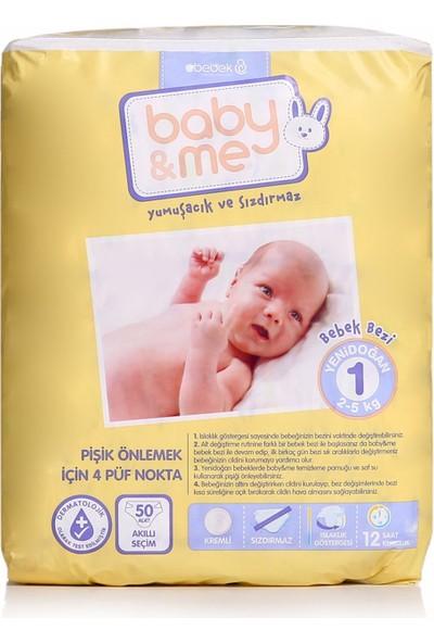 Baby&Me Bebek Bezi Yenidoğan 1 Beden 50 Adet