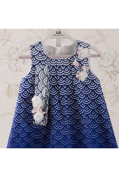 Monna Rosa Degrade Çiçekli Elbise
