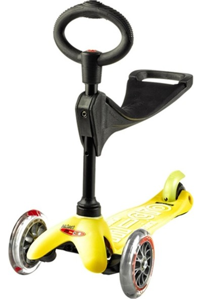 Micro Mini 3 In 1 Deluxe Yellow Scooter MMD013