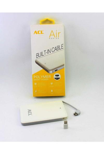 Acl A372 6000 Mah Taşınabilir Şarj Cihazı Powerbank (İnce Ve Hafif Kasa)