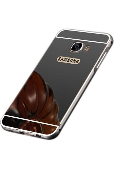 Sonmodashop Samsung Galaxy J7 Prime Metal Aynalı Kılıf
