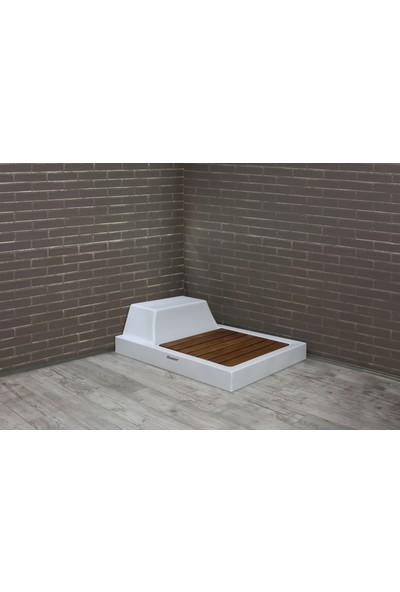 Shower 90*160 Dikdörtgen Otur. Monoblok Duş Teknesi H:13