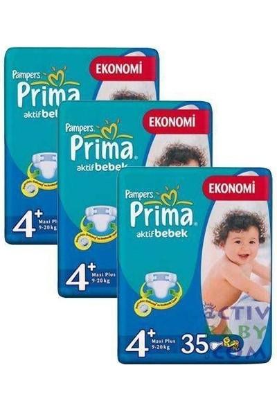 Prima Bebek Bezi 3'lü Fırsat Paket Maxi Plus 4+ Beden 70 Adet