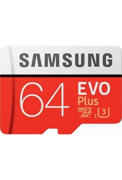 Samsung EVO Plus 64GB 100 MB/s microSDXC Kart (SD Adaptör) MB-MC64GA/TR