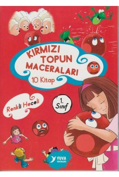 1.Sınıf Kırmızı Topun Maceraları Renkli Heceli 10 Kitap (Düz Yazı)