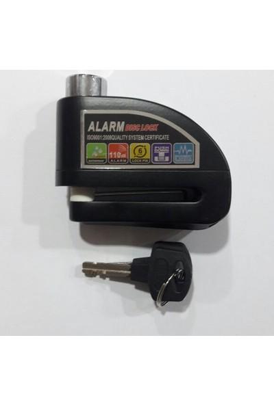 Motospartan Disk Kilidi Alarmlı Siyah Rmg