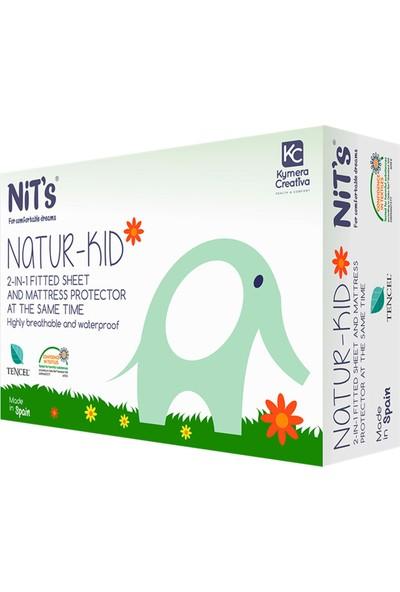 Nit's Natur Kid-Alezli Lastikli Çarşaf Pembe