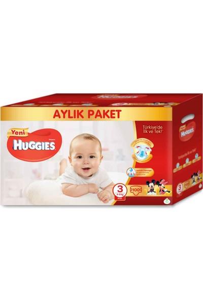 Huggies Bebek Bezi 3 Beden Aylık Paket Midi 100 Adet